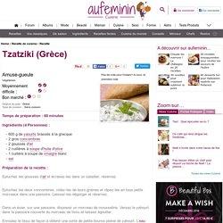 Recette Tzatziki (Grèce), notre recette Tzatziki (Grèce)