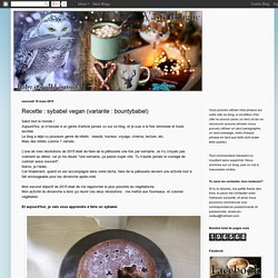 Vaste Blague: Recette : sybabel vegan (variante : bountybabel)