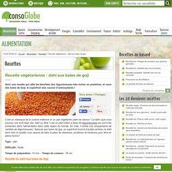 Recette végétarienne : dahl aux baies de goji