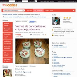 Recette de Verrine de concombre et chips de jambon cru
