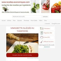 recette de la vinaigrette allégée au thermomix, sauce salade ww