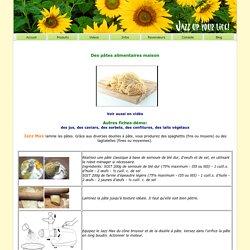 Recettes - Des pâtes alimentaires maison