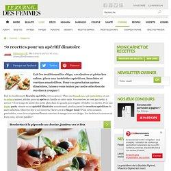 70 recettes pour un apéritif dinatoire - Journal des Femmes