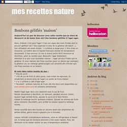 Bonbons gélifiés 'maison'-Mozilla Firefox
