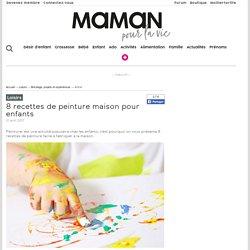 8 recettes de peinture maison pour enfants - Loisirs - Bricolage, projets et expériences