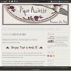 recettes de chefs - Pique - Assiette