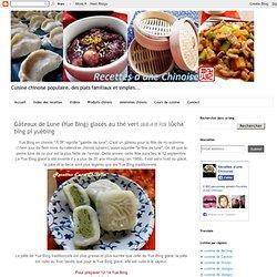 Gâteaux de Lune (Yue Bing) glacés au thé vert 绿茶冰皮月饼 lǜchá bīng pí yuèbing