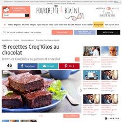 15 recettes Croq'Kilos au chocolat