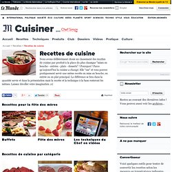 1. Recettes de cuisine