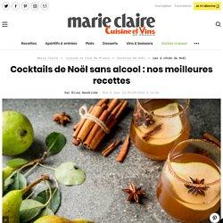 Cocktails de Noël sans alcool