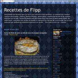 Recettes de Flipp: Curry de filets de porc au lait de coco et courges musquées