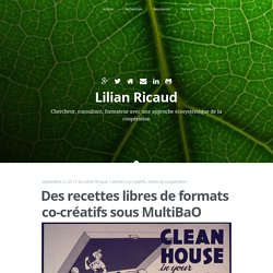 Des recettes libres de formats co-créatifs sous MultiBaO