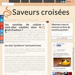Recettes de cuisine, blogs culinaires et droit d'auteur: état des lieux