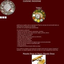Recettes de cuisine indienne, thali, masala dosa, riz biryani, chicken 65, raïta