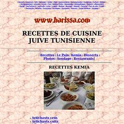 RECETTES DE CUISINE JUIVE TUNISIENNE