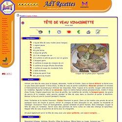 AdT-Recettes, recettes de cuisine : Viandes : Tête de veau vinaigrette