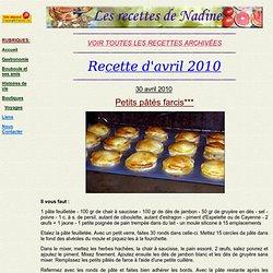 recettes-de-avril-2010