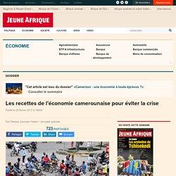 Les recettes de l'économie camerounaise pour éviter la crise
