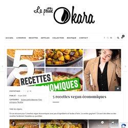 5 recettes vegan économiques