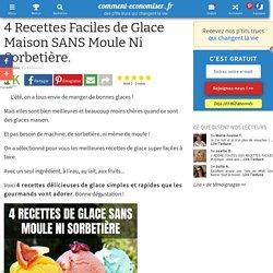4 Recettes Faciles de Glace Maison SANS Moule Ni Sorbetière.