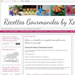 Recettes gourmandes by Kélou: Gâteau au chocolat aux courgettes sans gluten sans lactose et sans œufs