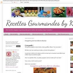 Recettes gourmandes by Kélou: Gougères poivron-chèvre-chorizo