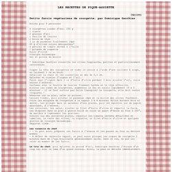 Les recettes a imprimer de Pique-assiette