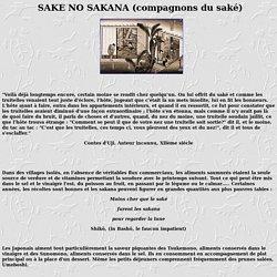 Recettes de cuisine japonaise : SAKE NO SAKANA (compagnons du saké)