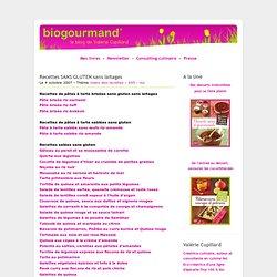 Recettes SANS GLUTEN - Le blog cuisine bio