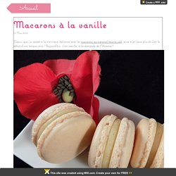 Macarons à la vanille