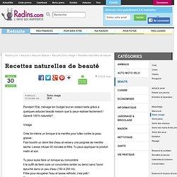 Recettes naturelles de beauté sur Radins.com