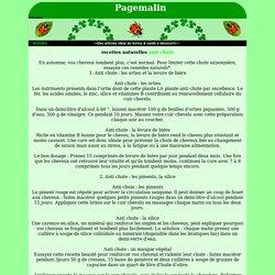 recettes naturelles anti chute de cheveu