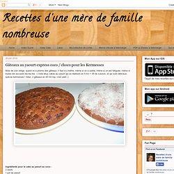 Gâteaux au yaourt express coco / choco pour les Kermesses