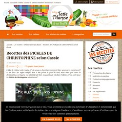 Pickles de christophine