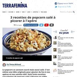 3 recettes de popcorn salé à picorer à l'apéro