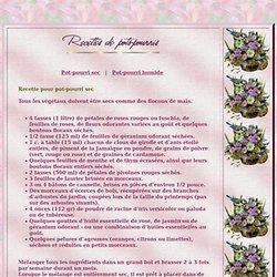 RECETTES DE POTS-POURRIS (Mon Coin de Jardin)