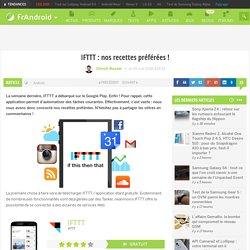 IFTTT : nos recettes préférées !