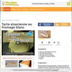 Mes-Idées-Recettes.com - Fiche Recette Tarte alsacienne au fromage blanc