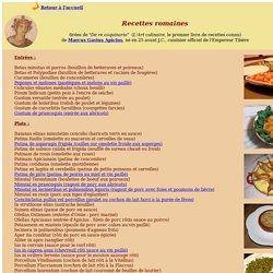 Recettes romaines - De re coquinaria - Apicius - cuisine antique