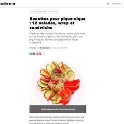 Recettes pour pique-nique : 12 salades, wrap et sandwichs