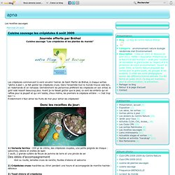 Les recettes sauvages - Cuisine sauvage les… - Les recettes de… - Les terrines de… - Les crépidules - Recette Cuisine… - Recettes cuisine… - Stage cuisine… - Les recettes du… - Le blog de Centre Nature Bréhal