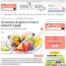 15 recettes de glaces à l'eau à savourer à gogo