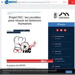 Projet FAC : les recettes pour réussir en Sciences Humaines
