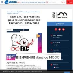 Projet FAC : les recettes pour réussir en Sciences Humaines - 2019/2020
