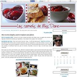 Mes recettes simples, santé et toujours sans gluten - Les carnets de Miss Diane