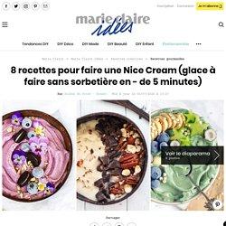 8 recettes pour faire une Nice Cream (glace à faire sans sorbetière en - de 5 minutes)
