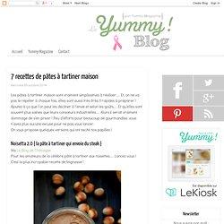 7 recettes de pâtes à tartiner maison - Le Yummy Blog par Yummy Magazine