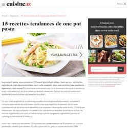 15 recettes tendances de one pot pasta - One pot pasta crémeuses façon carbonara