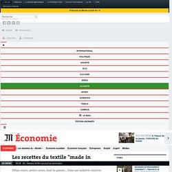 "Les recettes du textile ""made in France"""