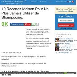 10 Recettes Maison Pour Ne Plus Jamais Utiliser de Shampoing.